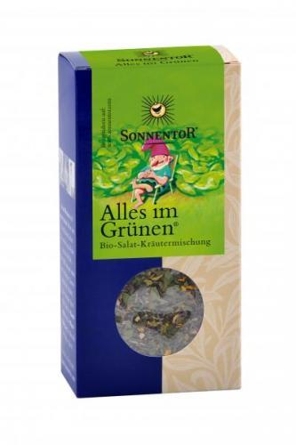 Alles im Grünen Salatgewürz bio 20 g Packung:Kräuterdorf – Sprögnitz / Sonnentor