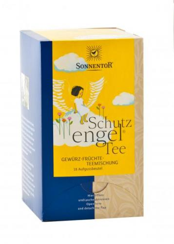Schutzengel Tee bio 27 g Doppelkammerbeutel: Kräuterdorf – Sprögnitz / Sonnentor