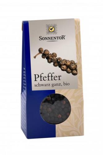 Pfeffer schwarz ganz bio 35g Packung:Kräuterdorf – Sprögnitz / Sonnentor