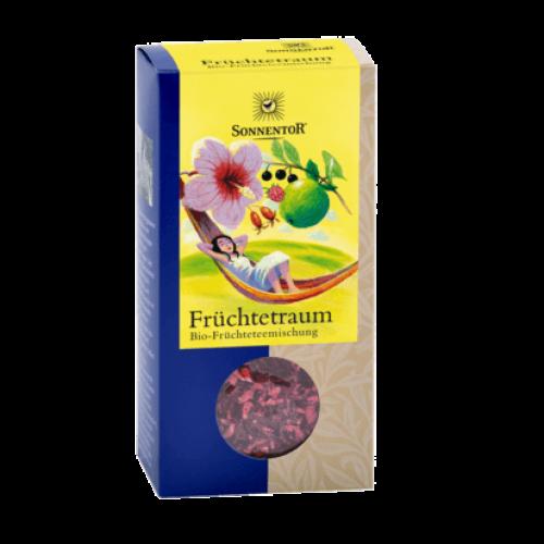 Früchtetraum Tee lose bio 100g: Kräuterdorf – Sprögnitz / Sonnentor